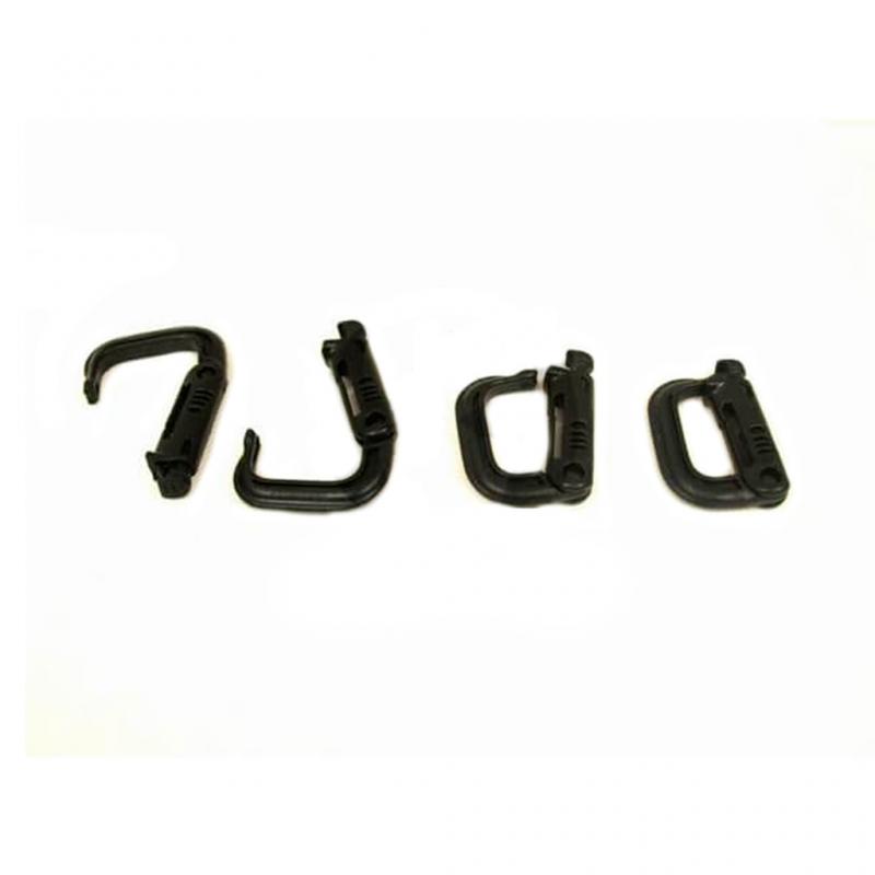 FASTENER PVC MOLLE 1 UNIDAD NEGRO