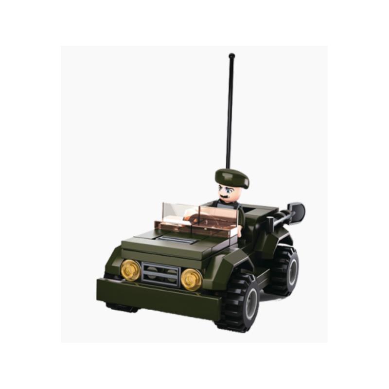 MUÑECO ARMY JEEP PIEZAS B0587F 413226 VERDE