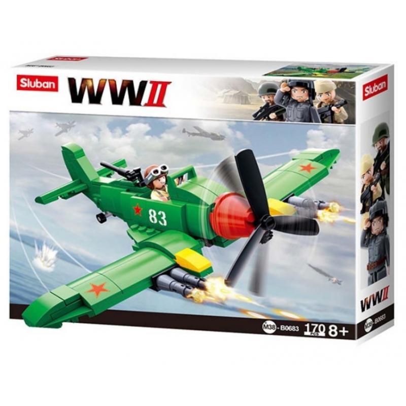 AVION WWII 83 SLUBAN 170 PIEZAS VERDE