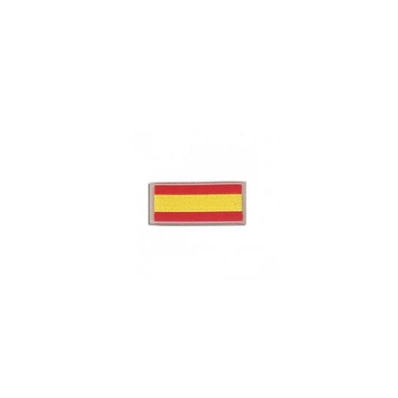 PARCHE BANDERITA ESPAÑOLA HOMBRO FILO BEIGE