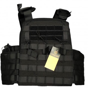 CHALECO PLATE CARRIER APC CONQUER NEGRO