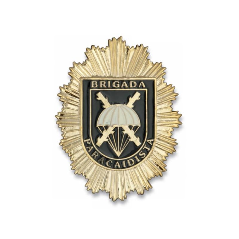PLACA CARTERA METÁLICA BRIPAC DORADO/NEGRO