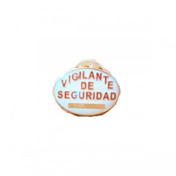 PIN VIGILANTE SEGURIDAD BLANCO/ROJO