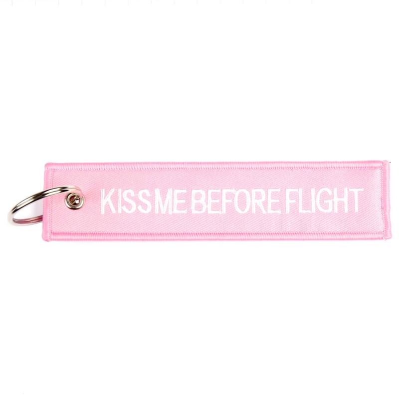 LLAVERO KISS ME BEFORE FLIGHT ROSA