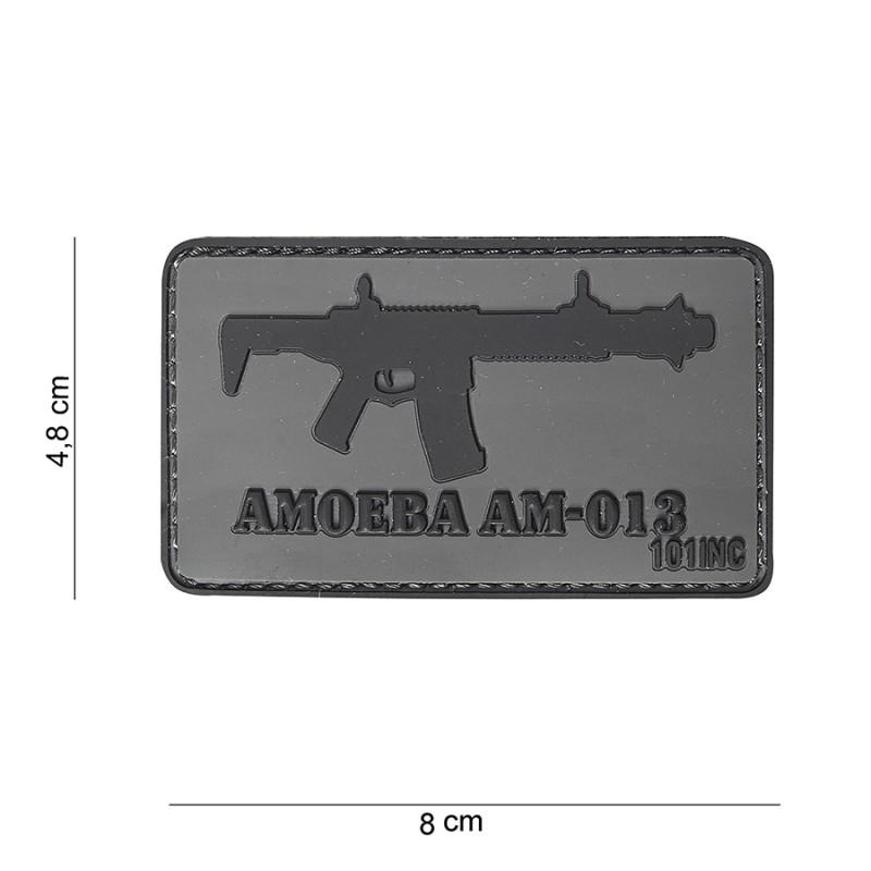 PARCHE PVC AMOEBA AM-013 GRIS/NEGRO