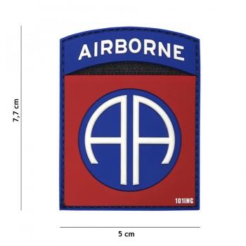 PARCHE PVC AIRBORNE 82ND ROJO/AZUL
