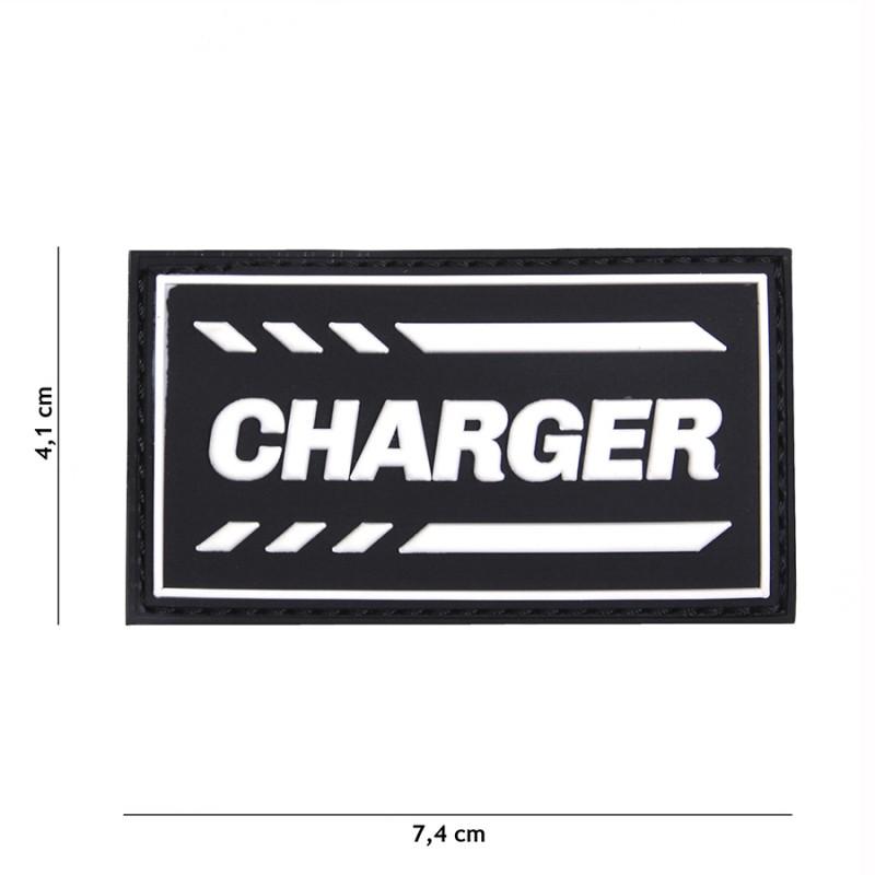 PARCHE PVC CHARGER NEGRO/BLANCO