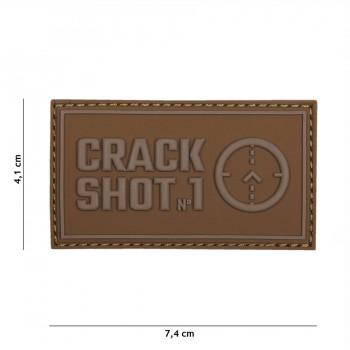PARCHE PVC CRACK SHOT COYOTE