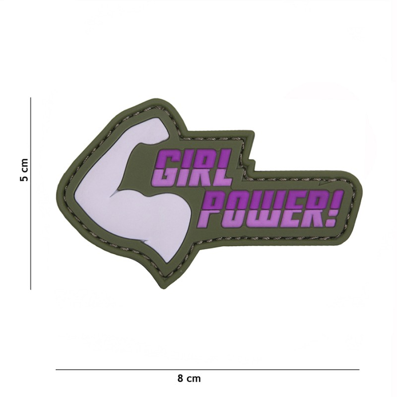 PARCHE PVC GIRL POWER ROSA