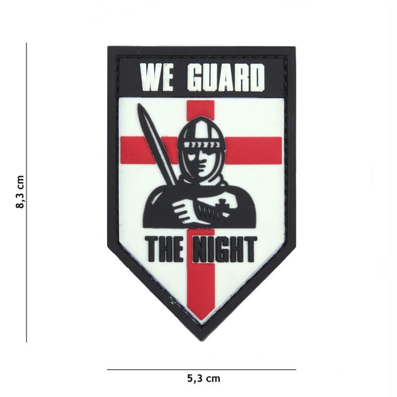 PARCHE PVC WE GUARD THE NIGHT BLANCO