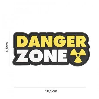 PARCHE PVC DANGER ZONE AMARILLO