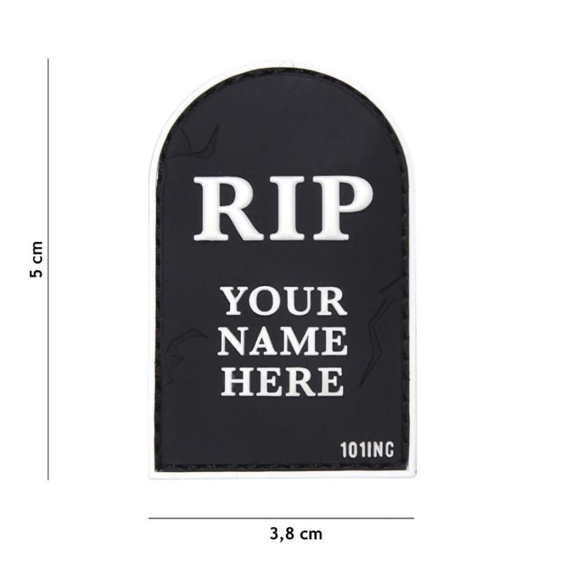 PARCHE PVC RIP NEGRO/BLANCO