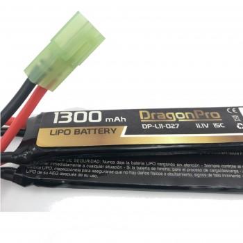 DRAGONPRO DP-L11-027 11.1V 1300mAh 15C LiPO (1+1+1) 95x20x7mm