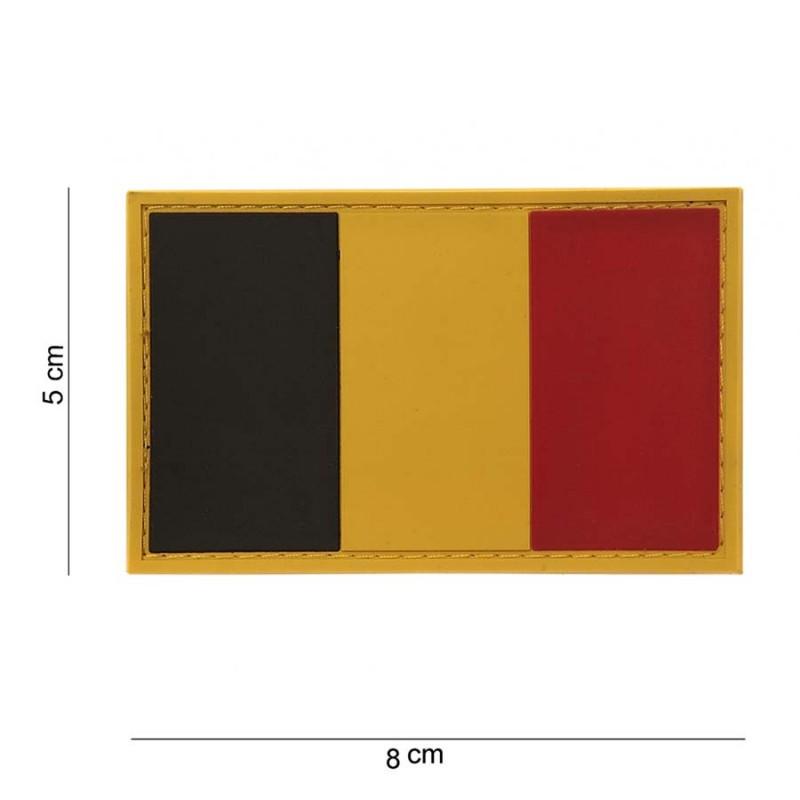 PARCHE PVC BANDERA BELGICA ORIGINAL