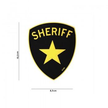 PARCHE PVC SHERIFF NEGRO/AMARILLO