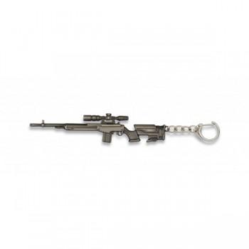 LLAVERO FUSIL SNIPER M14 PLATA