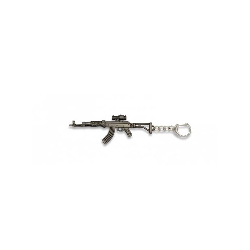 LLAVERO FUSIL AK47 PLATA