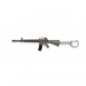 LLAVERO FUSIL M16 ALBAINOX PLATA/NEGRO