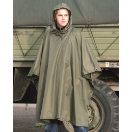 PONCHO RIPSTOP IMPERMEABLE MIL-TEC VERDE