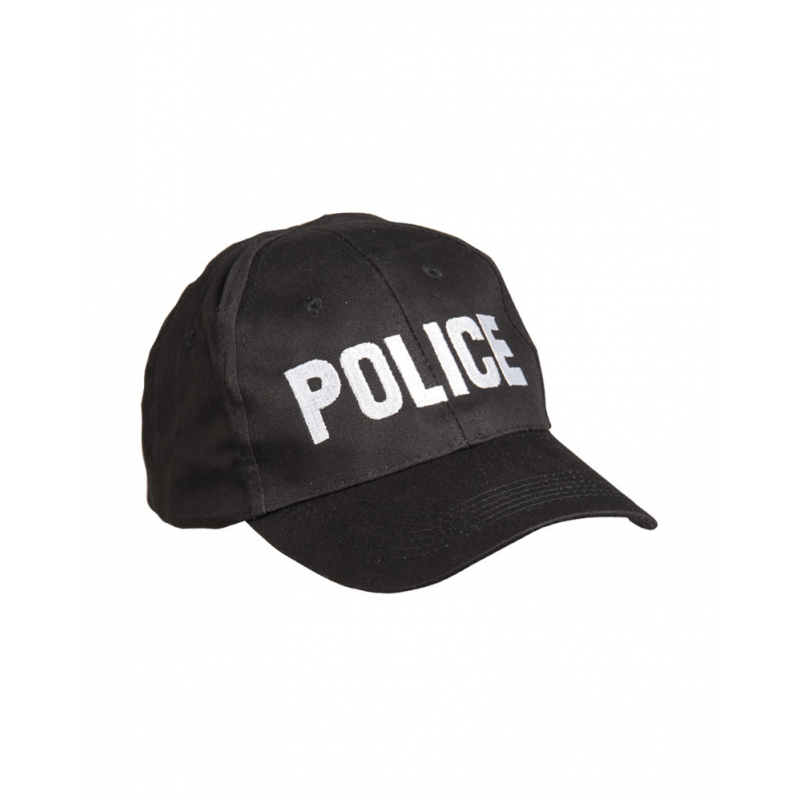 "GORRA DE BEISBÓL ""POLICE"" MIL-TEC NEGRO"