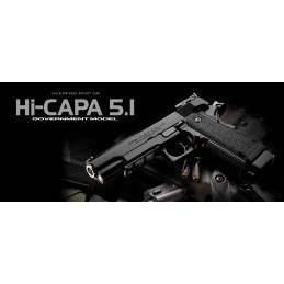 HI-CAPA 5.1 TOKIO MARUI GAS BLOWBACK NEGRO