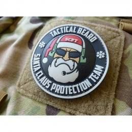 PARCHE PVC SANTA CLAUS PROTECTION TEAM NEGRO