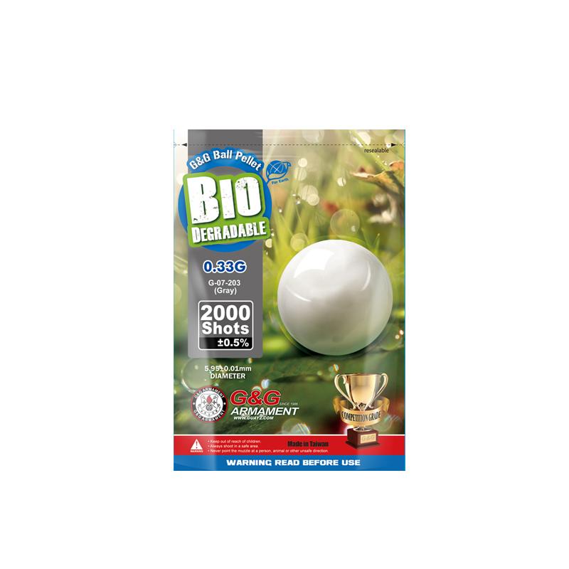 BOLAS BIO 0.33G 2000BBS G&G GRIS