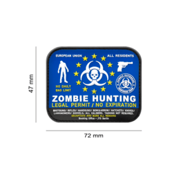 PARCHE ZOMBIE HUNTING AZUL