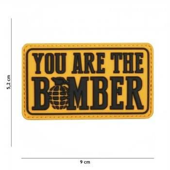 PARCHE PVC YOU ARE DE BOMBER AMARILLO