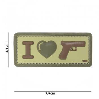 PARCHE PVC I LOVE MY GUN MULTICAM