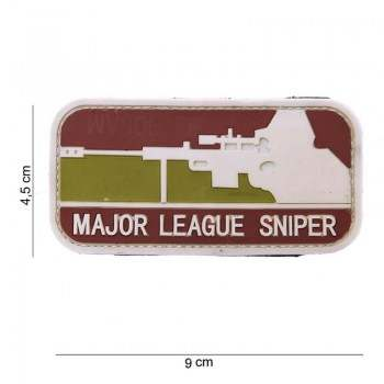 PARCHE PVC MAJOR LEAGUE SNIPER MARRON