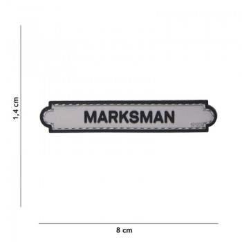 PARCHE PVC INSIGNIA MARKSMAN GRIS