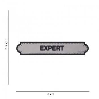 PARCHE PVC INSIGNIA EXPERT GRIS