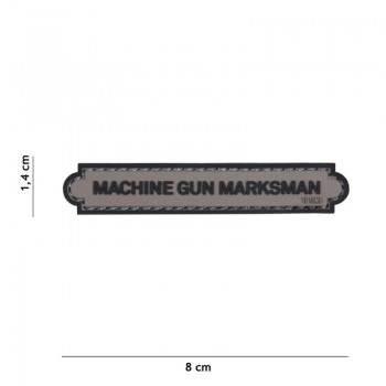 PARCHE PVC INSIGNIA MACHINE GUN MARKSMAN GRIS