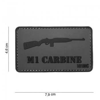 PARCHE PVC M1 CARABINE GRIS/NEGRO
