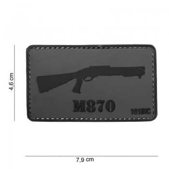 PARCHE PVC M870 GRIS/NEGRO