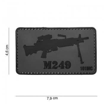 PARCHE PVC M249 GRIS/NEGRO