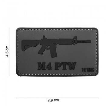 PARCHE PVC M4 PTW GRIS/NEGRO