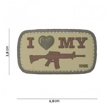 PARCHE PVC I LOVE MY M4...