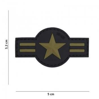 PARCHE PVC US AIR FORCE NEGRO/VERDE