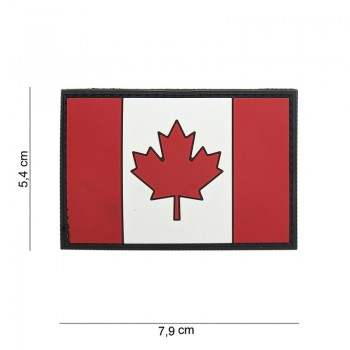 PARCHE PVC BANDERA CANADA ORIGINAL
