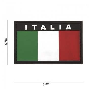 PARCHE PVC BANDERA & NOMBRE ITALIA ORIGINAL