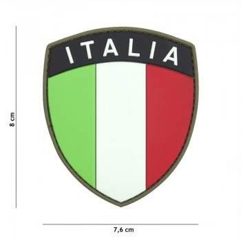 PARCHE PVC BANDERA ESCUDO & LETRAS ITALIA ORIGINAL