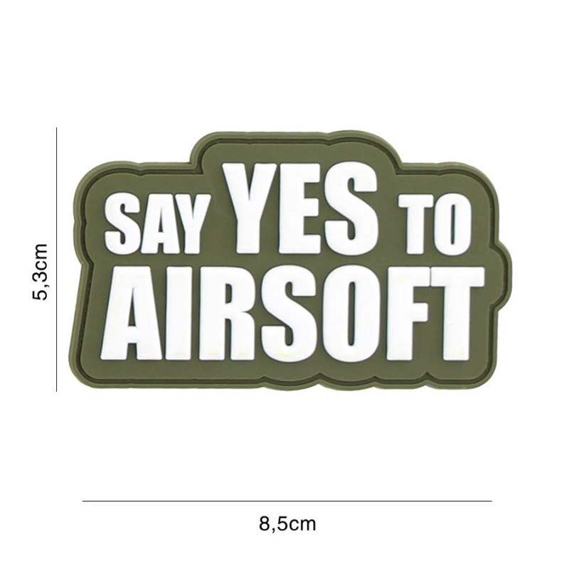PARCHE PVC SAY YES TO AIRSOFT VERDE