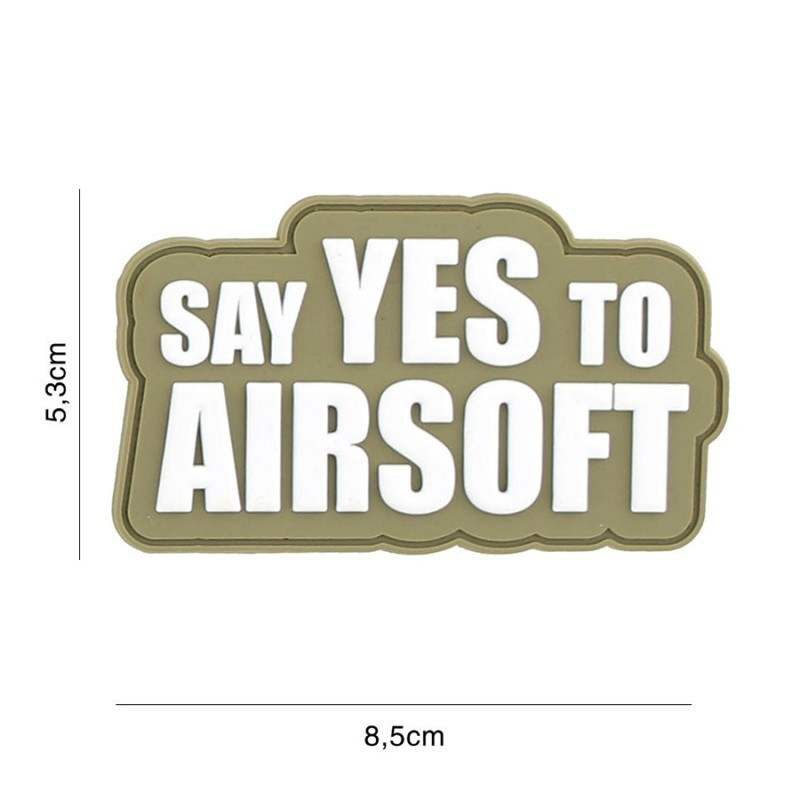 PARCHE PVC SAY YES TO AIRSOFT MULTICAM