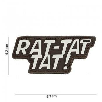 PARCHE PVC RAT-TAT TAT! MARRON