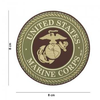 PARCHE PVC UNITED STATES MARINE CORPS MARRON