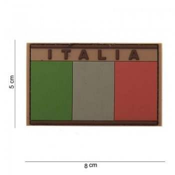 PARCHE PVC BANDERA & NOMBRE ITALIA MARRON
