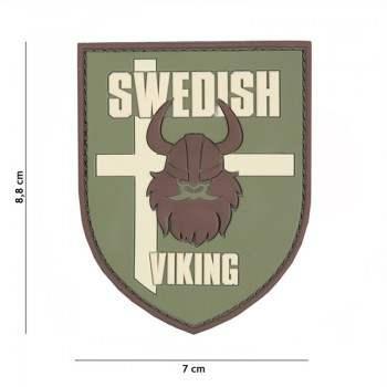 PARCHE PVC BANDERA ESCUDO SWEDISH VIKING MULTICAM