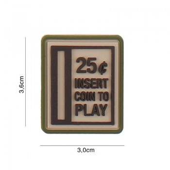 PARCHE PVC INSERT COIN TO PLAY MULTICAM